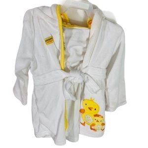 Carter's White & Yellow Ducky Baby Robe 0-9 Months